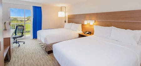 Inland Double Queen Hotel Room | Holiday Inn Express | Orange Beach AL | Featured Image