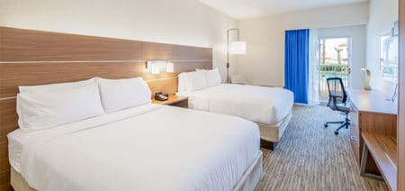 Poolview Double Queen Hotel Room | Holiday Inn Express | Orange Beach AL | Featured Image